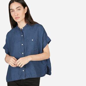 Everlane Linen Shirt, White, 0